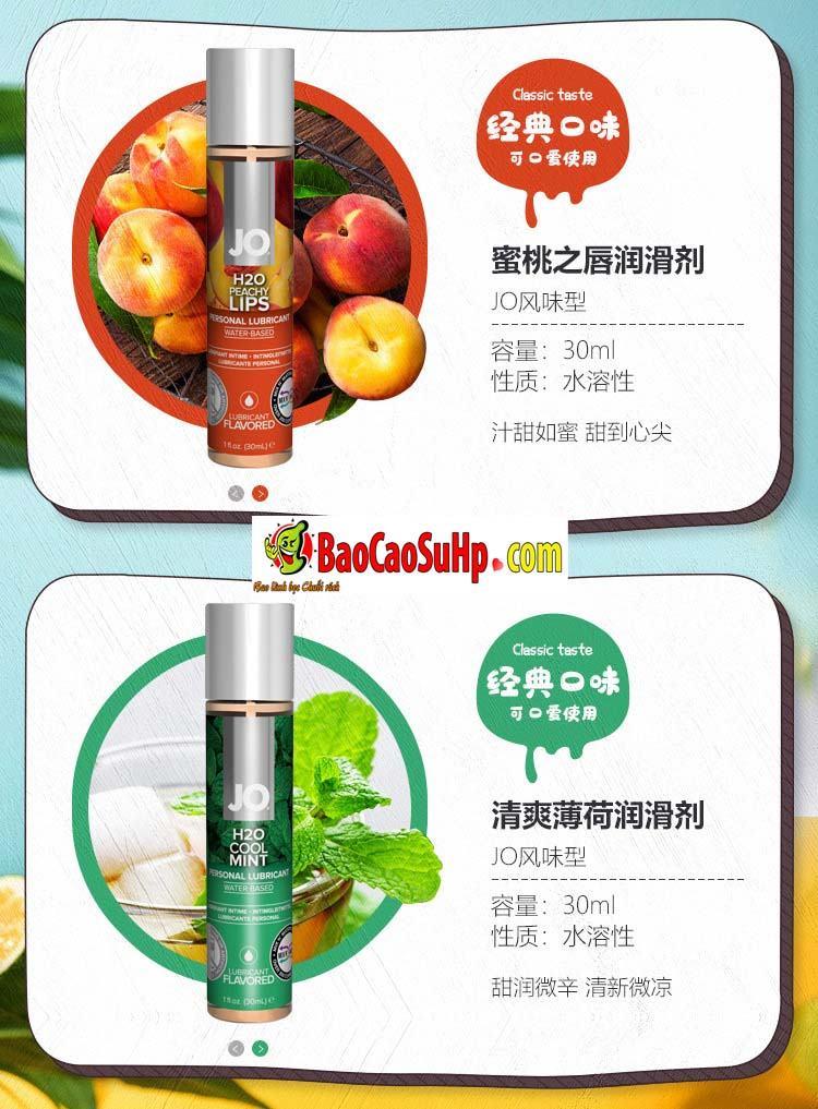 gel boi tron system Jo Fruity 13 - Gel bôi trơn Mỹ Jo H20 Fruity thơm vị thiên nhiên dành cho vợ chồng 2in1