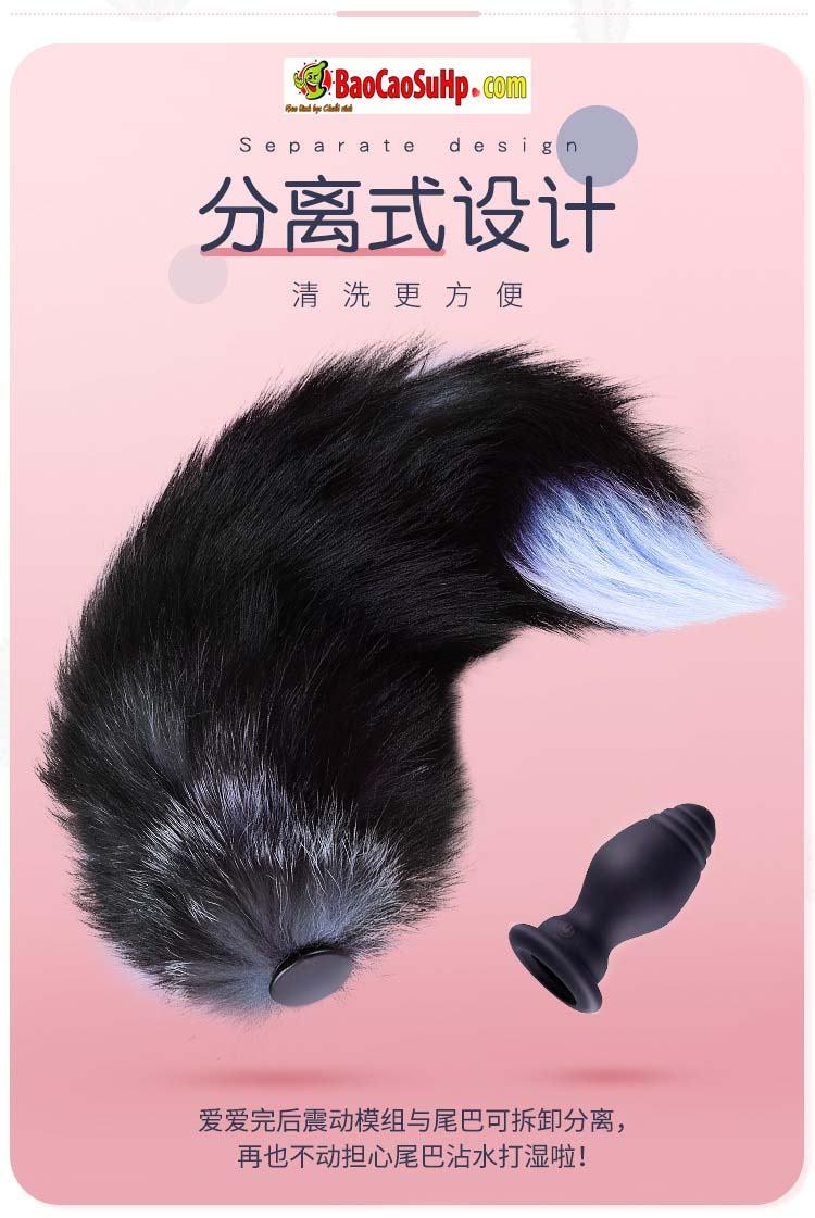 sextoy duoi chon dieu khien tu xa 10 - Hình ảnh đồ chơi tình dục đuôi chồn cắm hậu môn rung điều khiển từ xa