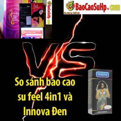 So sánh bao cao su feel 4in1 và Innova Đen
