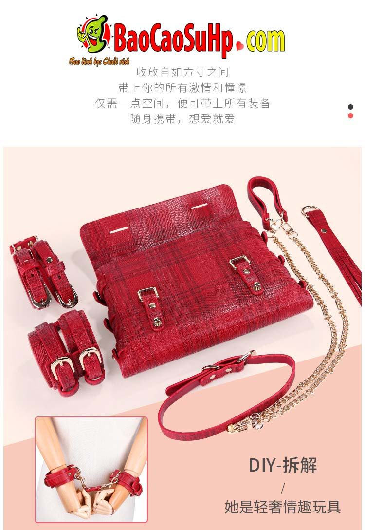 bo bao dam 18 mon Miji Leather Bundle 4 - Bộ Sm bạo dâm 18 món Miji Leather Bundle cao cấp sự khác biệt