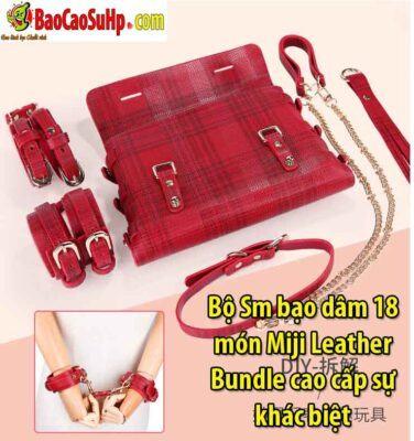 Bộ Sm bạo dâm 18 món Miji Leather Bundle cao cấp sự khác biệt