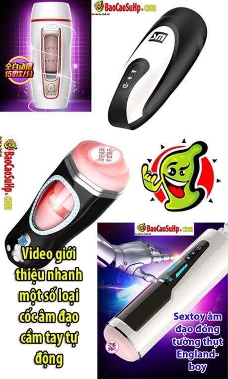 coc am dao tu dong cam tay - Video giới thiệu nhanh một số loại cốc âm đạo cầm tay tự động
