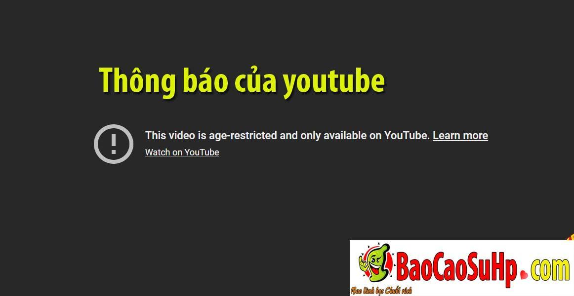 thong bao youtube - Hướng dẫn xem video review sản phẩm của shop