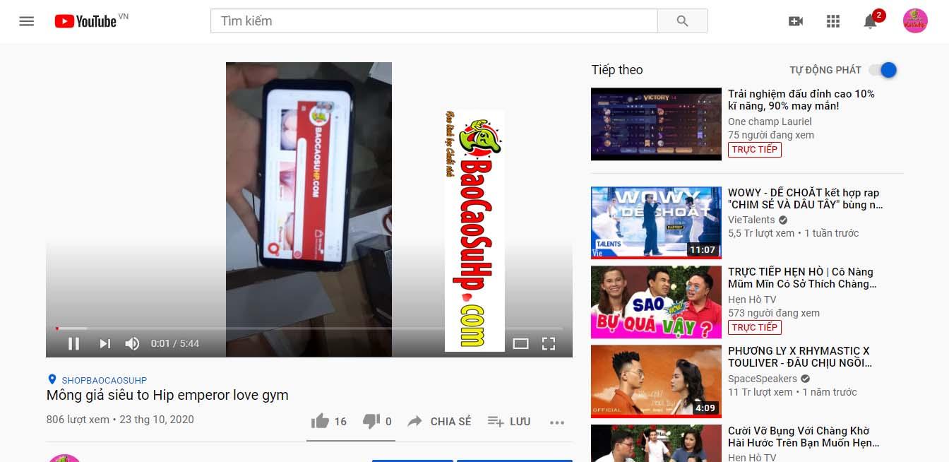 vao youtube xem video - Hướng dẫn xem video review sản phẩm của shop