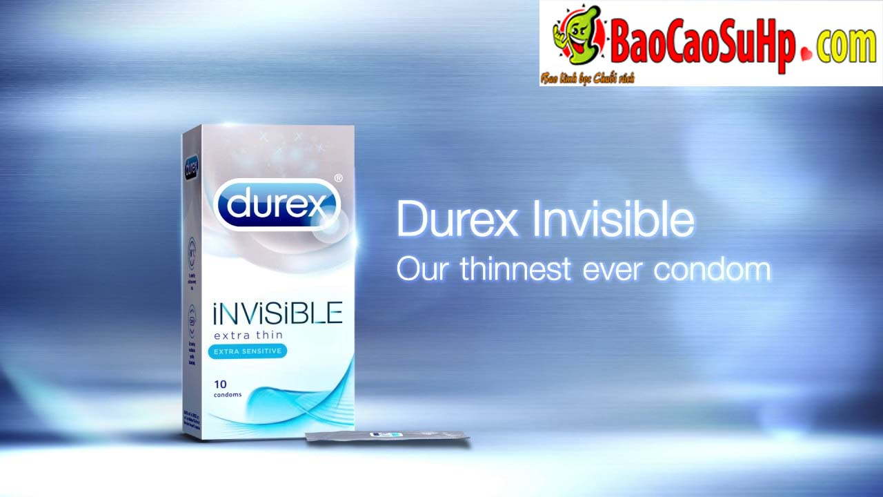 bao cao su Durex invisible 3 - Bao cao su Durex Invisible 100% Hải Phòng trải nghiệm mỏng hơn.