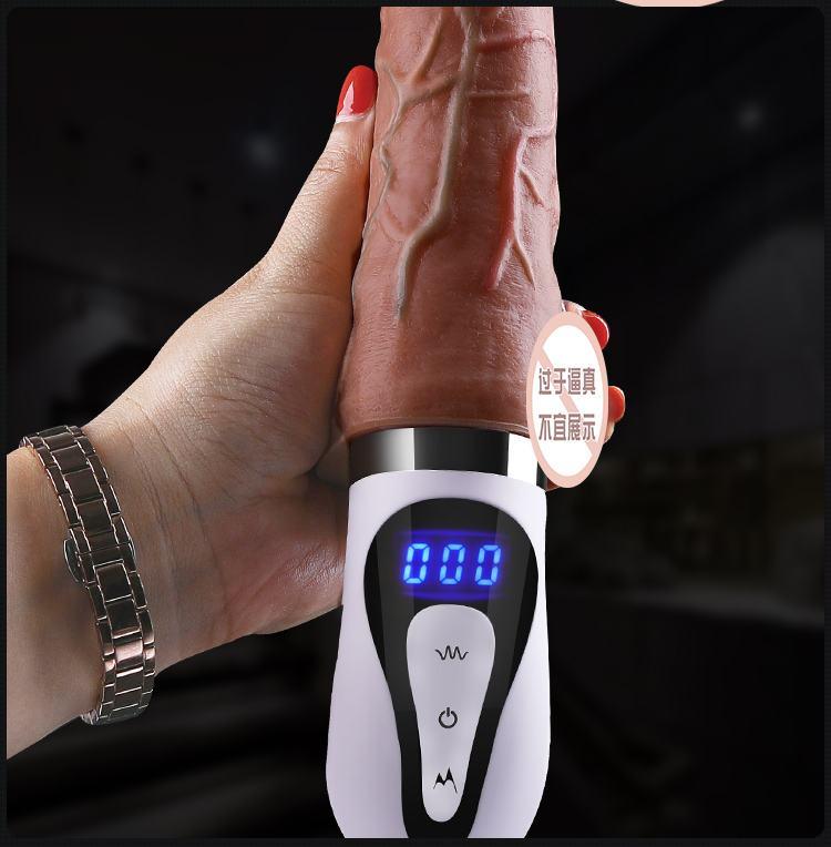 duong vat gia cam tay Mystery Ji Barbier 16 - Dương vật cầm tay rung thụt màn hình LCD Ji Barbier MZ001 mềm mại.