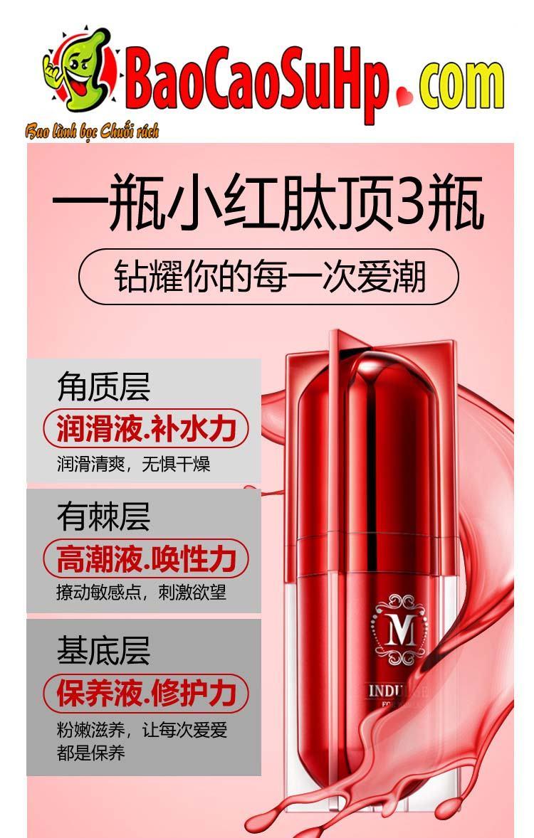 gel movo peptide tang cuc khoai 18 - Gel MOVO nhỏ màu đỏ peptide tăng cực khoái vùng kín phụ nữ