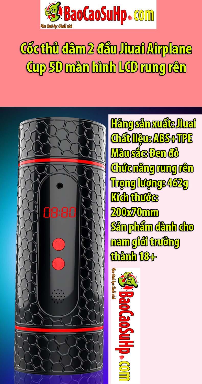 coc thu dam Jiuai Airplane Cup 5D 5 - Cốc thủ dâm 2 đầu Jiuai Airplane Cup 5D màn hình LCD rung rên