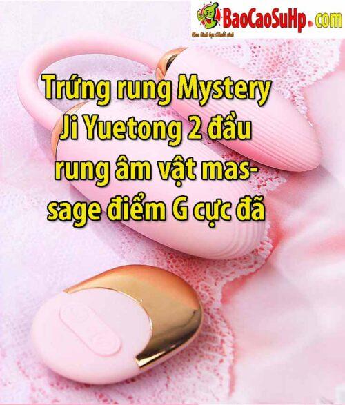 Trứng rung Mystery Ji Yuetong 2 đầu rung âm vật massage điểm G cực đã