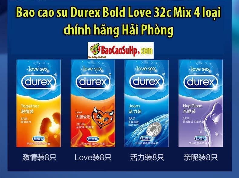 Bao cao su Durex Bold Love 32c 2 - Bao cao su Durex Bold Love 32c Mix 4 loại chính hãng Hải Phòng