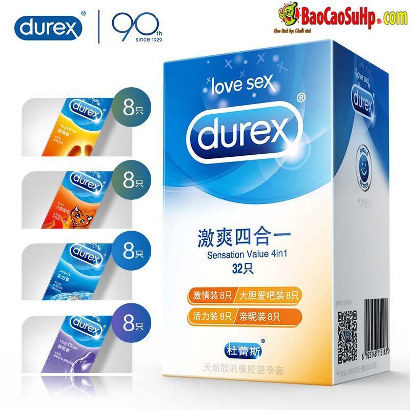 Bao cao su Durex Bold Love 32c bia 1 - Bao cao su Durex Bold Love 32c Mix 4 loại chính hãng Hải Phòng