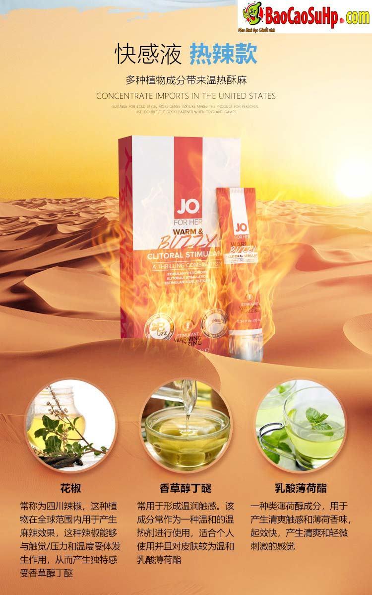 Gel Jo JO® WARM BUZZY 4 - Gel bôi trơn kích thích âm đạo chị em JO® WARM & BUZZY mỹ