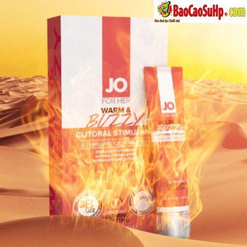 Gel Jo JO® WARM BUZZY 7 - Gel bôi trơn kích thích âm đạo chị em JO® WARM & BUZZY mỹ
