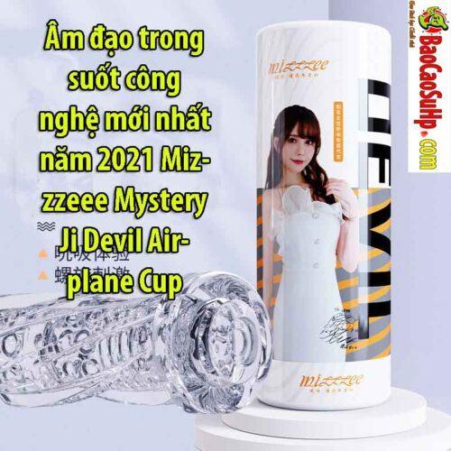 Mizzzeee Mystery Ji Devil Airplane Cup 5 1 - Cốc âm đạo xoắn hút ZZ12 trong suốt chất lượng Nhật Bản!!