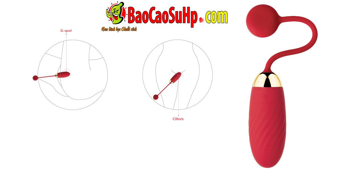 Trung rung Svakom Ella 5 - Trứng rung điều khiển từ xa APP smart cao cấp Svakom Ella