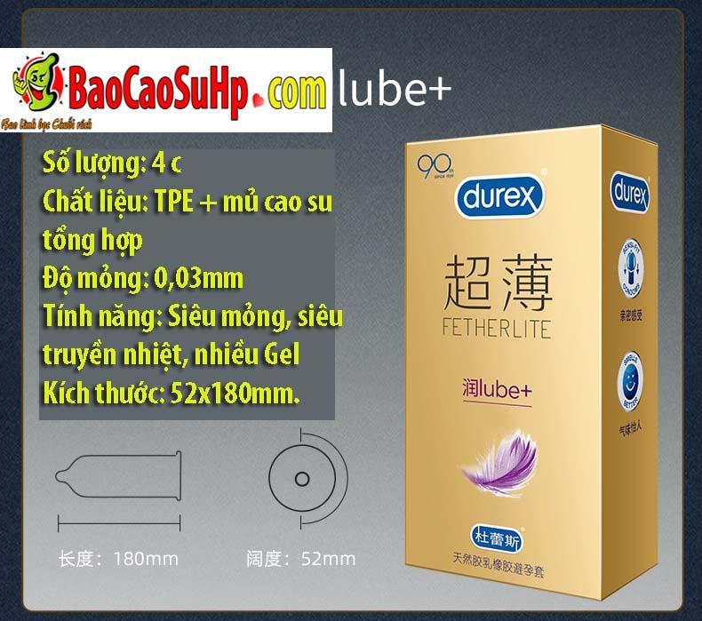 Durex Prenium Fetherlite Prenium 10 - Bao cao su Durex Prenium Fetherlite 18c Mix 3 loại siêu mỏng!!!