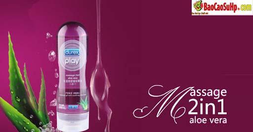Gel boi tron Massage 2in1 Durex play Aloe Vera 3 - Gel bôi trơn Massage 2in1 Durex play Aloe Vera and Sensual 200ml