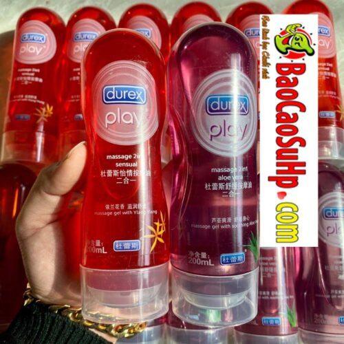 Gel bôi trơn Massage 2in1 Durex play Aloe Vera and Sensual 200ml