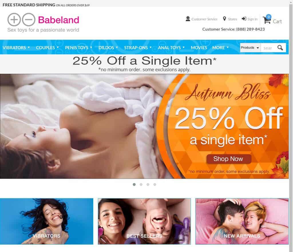 Shop sextoy Babeland - Top 10 website bán Sextoys trực tuyến hàng đầu thế giới hiện nay.