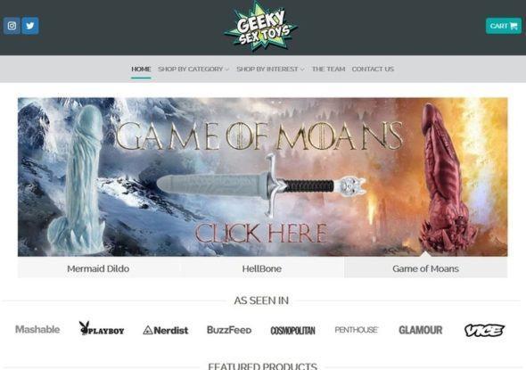 Shop sextoy Geeky - Top 10 website bán Sextoys trực tuyến hàng đầu thế giới hiện nay.