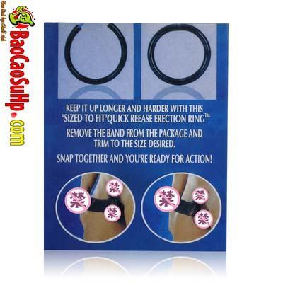 vong deo duong vat Quick Release Erection Ring 4 - Vòng đeo dương vật Quick Release Erection Ring tăng thời gian quan hệ!!