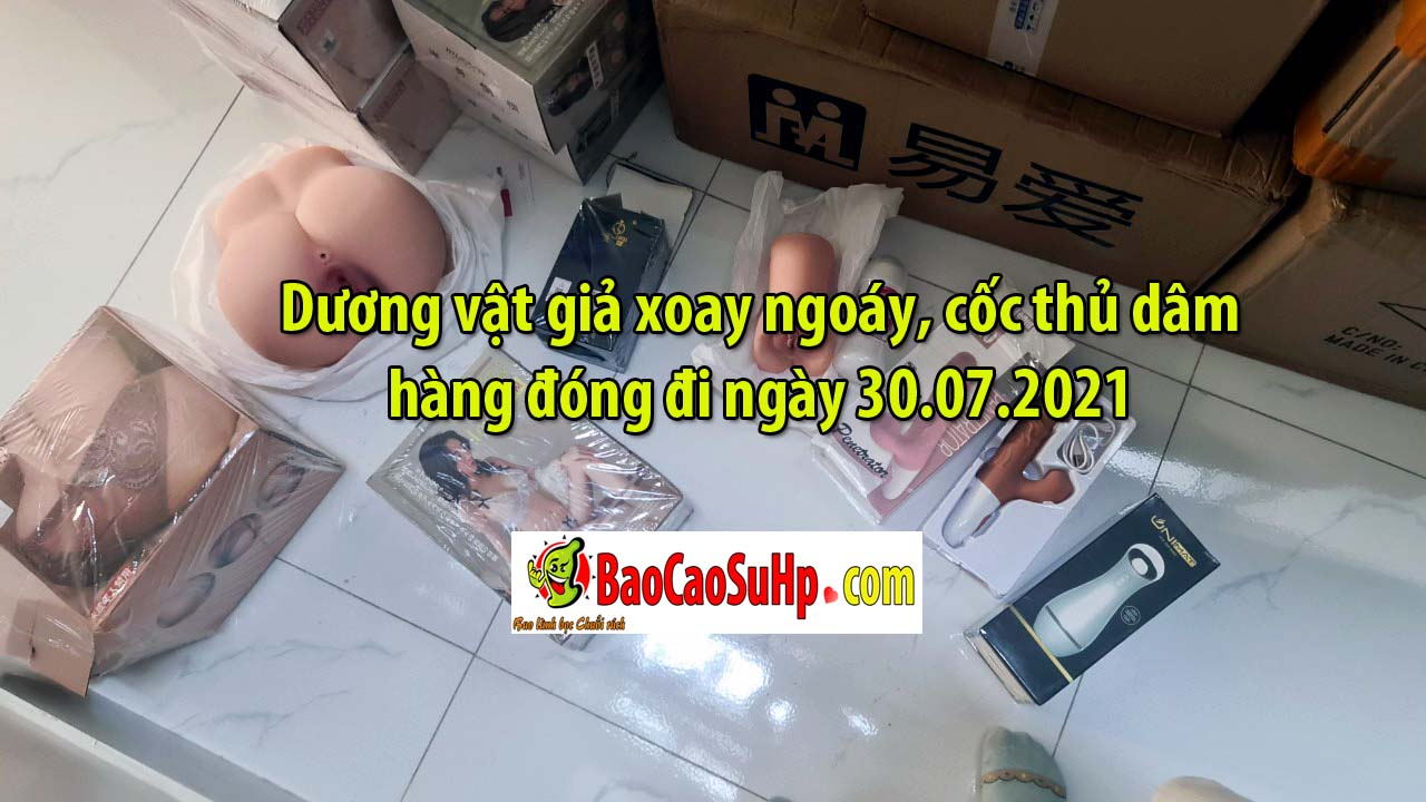 Sextoy hang dong di ngay 30072021 - Dương vật giả xoay ngoáy, cốc thủ dâm hàng đóng đi ngày 30.07.2021