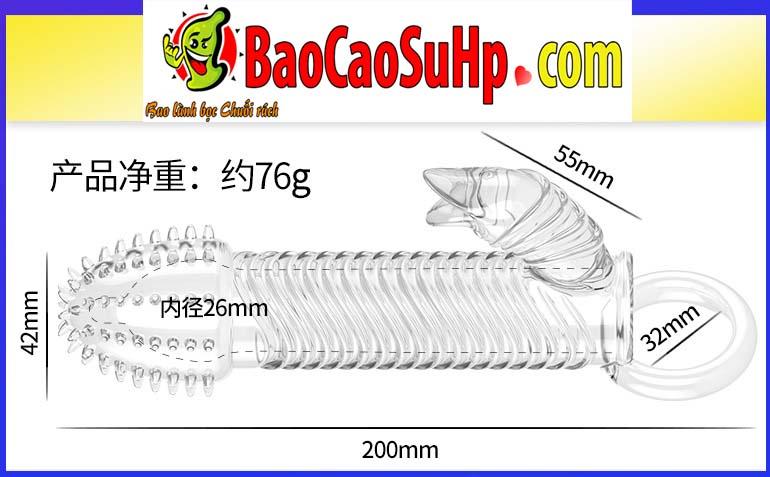 bao cao su donden Lycantorer 6 - Bao cao su donden trong suốt gai gân Lycantorer tai thỏ có rung giá rẻ