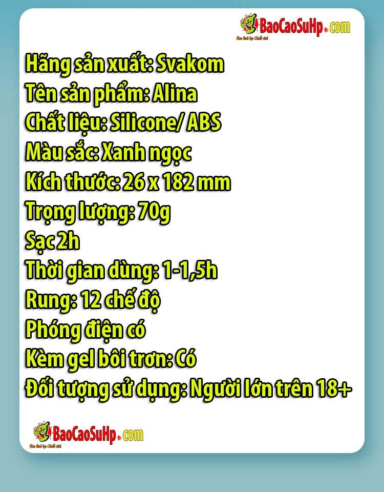 may rung phat dien Svakom Alina 14 - Máy rung phát điện chuyên kích thích Svakom Alina