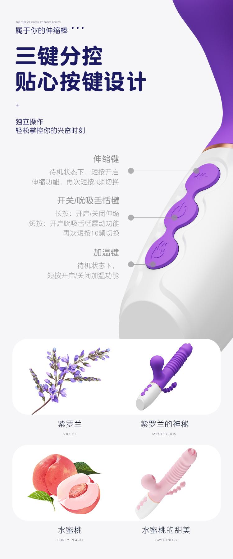 duong vat gia Boclick Mizzzee 13 - Dương vật giả cầm tay đa chức năng Boclick Mizzzee hút liếm thụt giật
